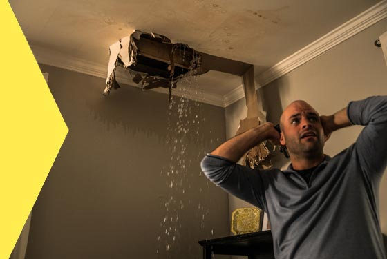 Man worried about Leaking Ceiling